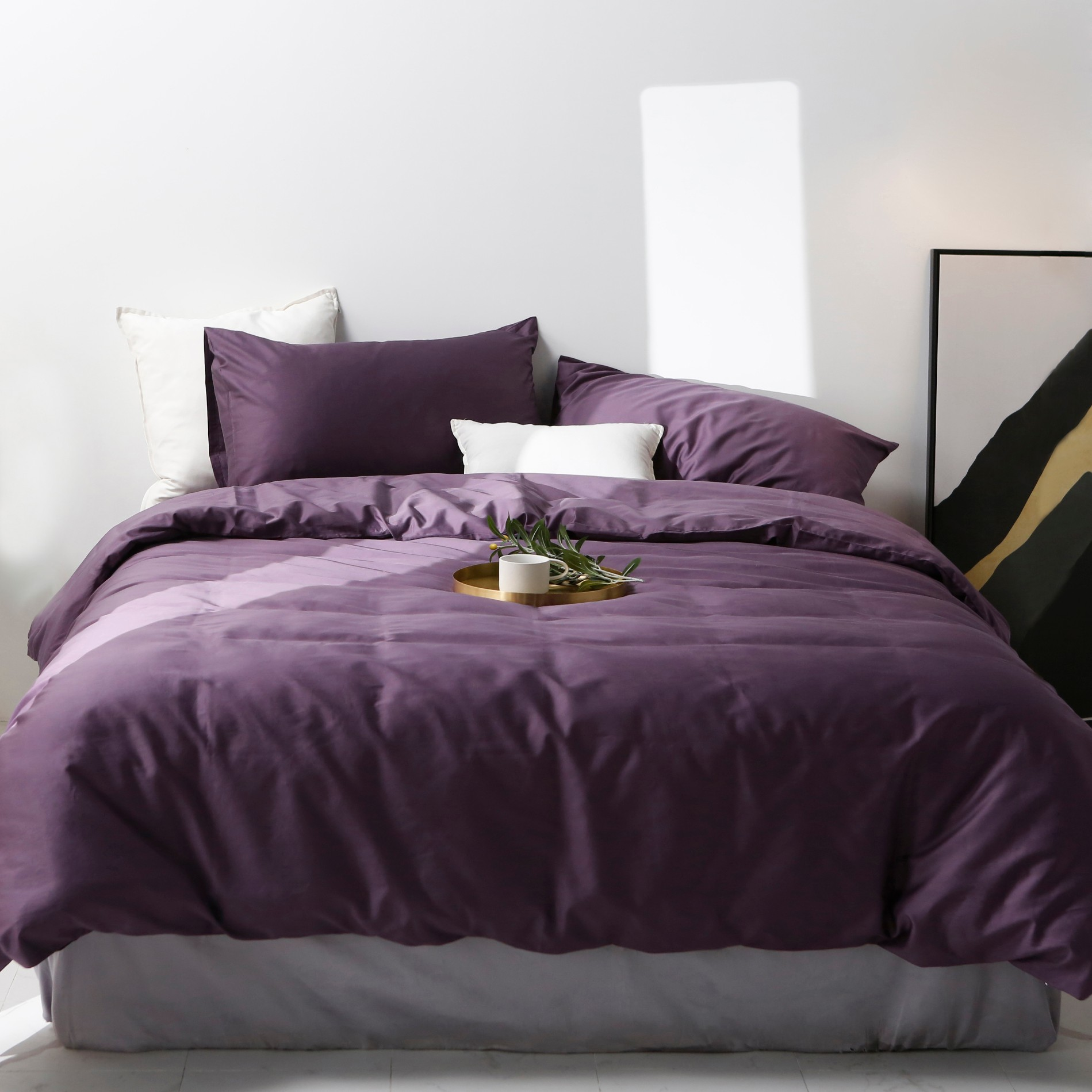 Plain Coloured Cotton Bed Linen Manufacturers, Plain Coloured Cotton Bed Linen Factory, Supply Plain Coloured Cotton Bed Linen