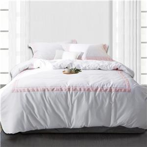 4 Piece Bedding Set With Satin Stitch