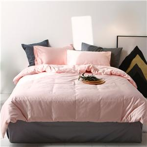 Plain Dyed Cotton Bedding Set