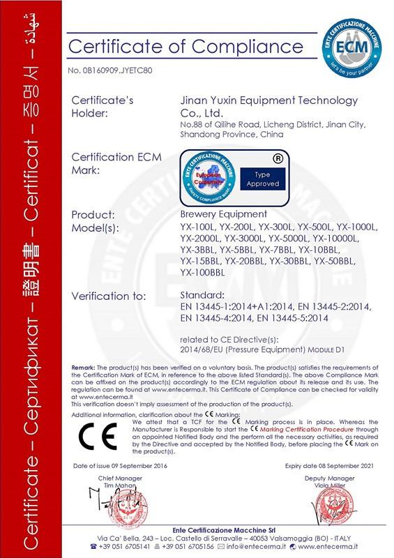 Certyfikat PED
