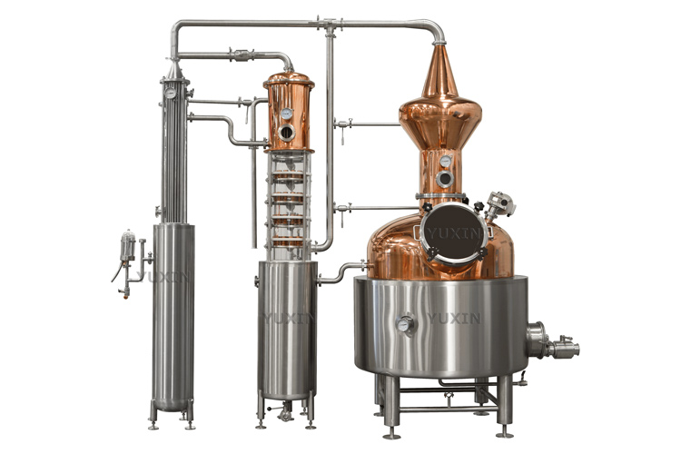 Alcohol distillation tower