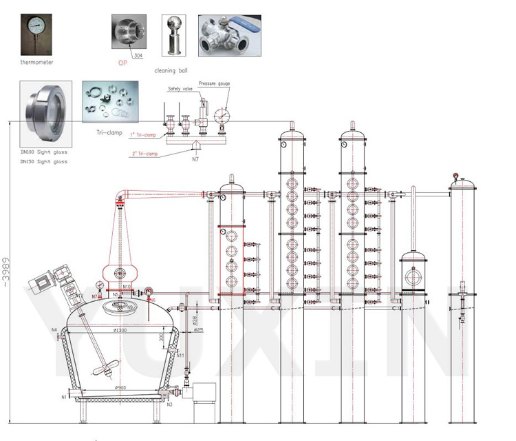 Alcohol distillation tower wholesale