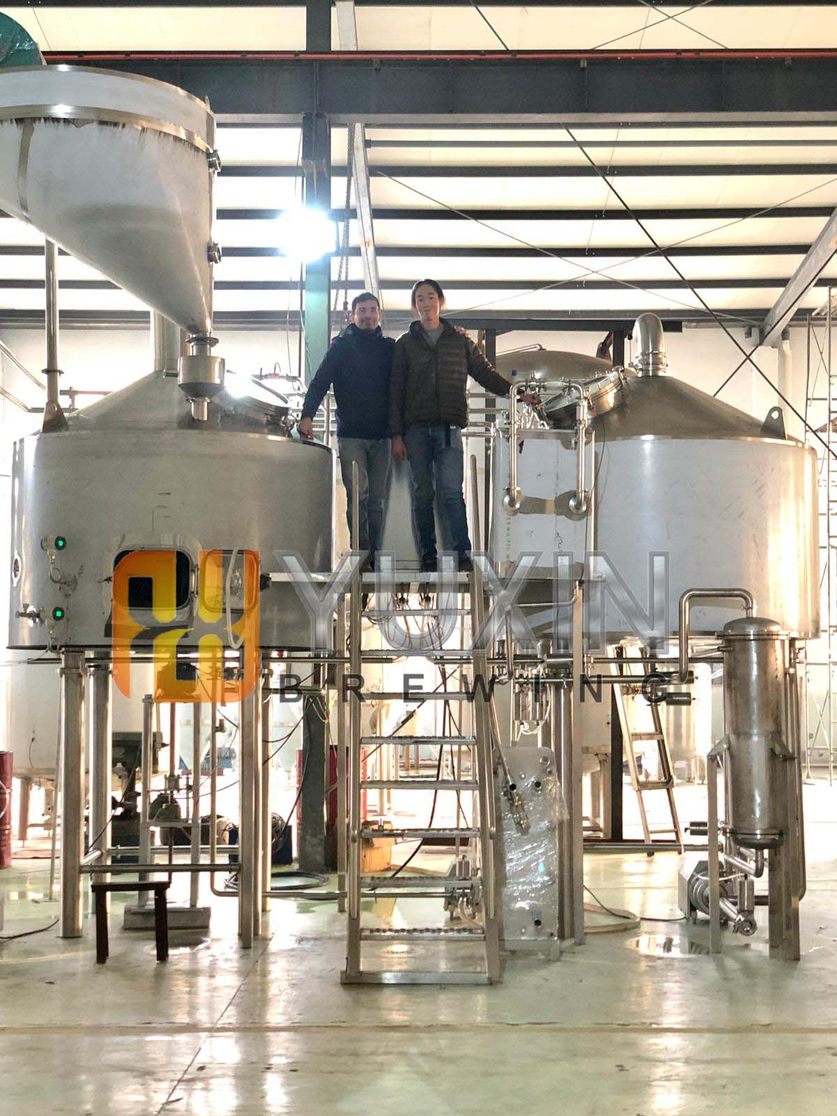 Our Singapore customers come to YUXIN and inspect 2000L brewery project