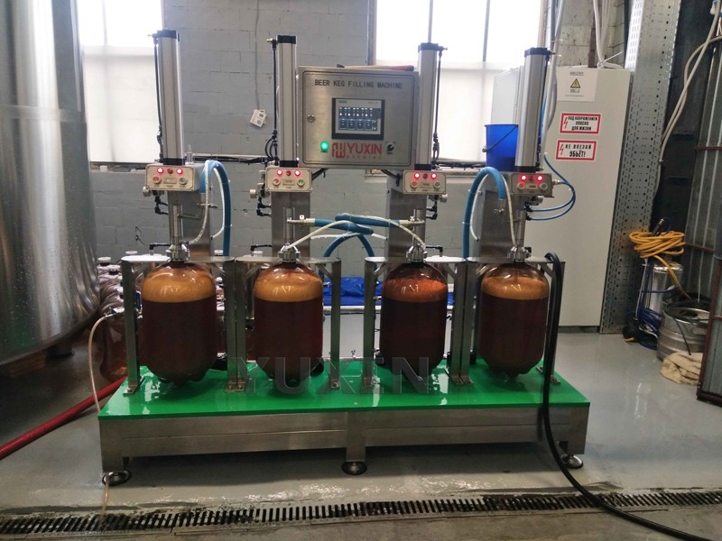 YUXIN PET keg filling machine has been working well on site now!