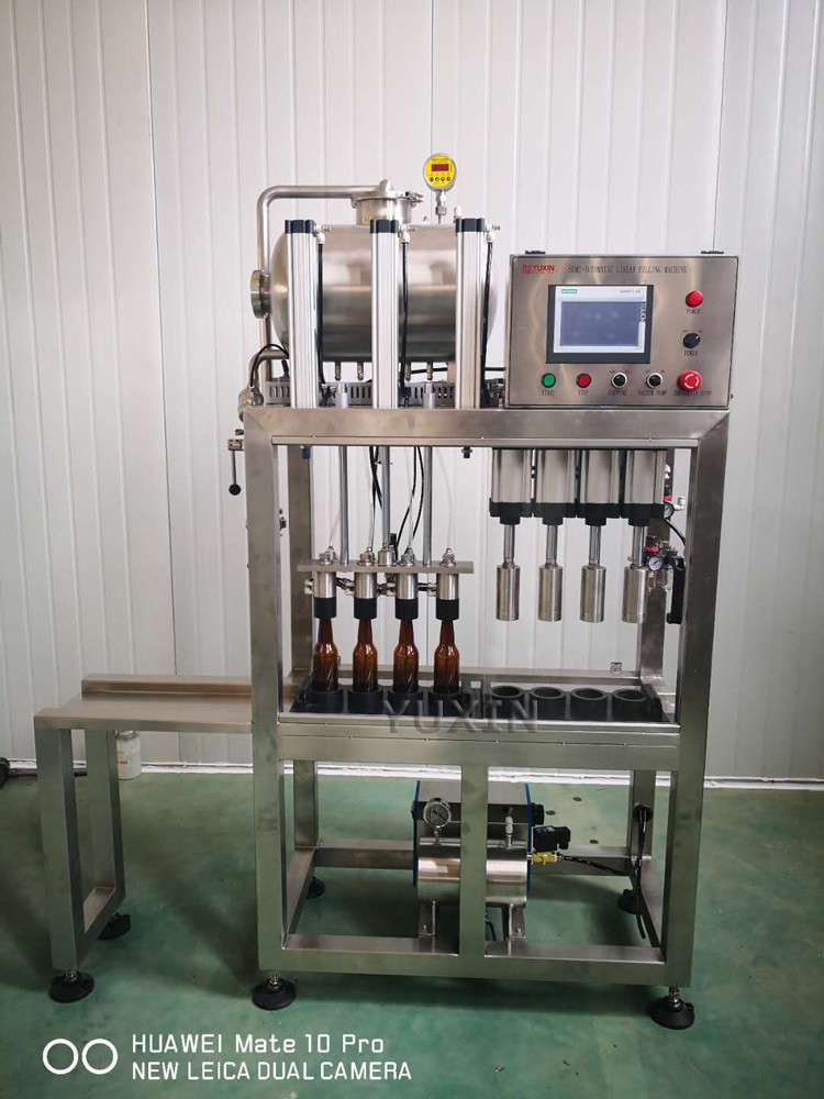 YUXIN 4heads bottling machine just finished