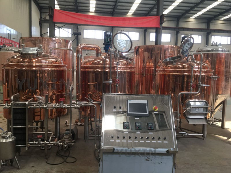 Red copper brewery system just stands up!