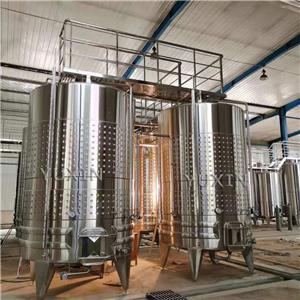 Tanques de fermentación de bodega