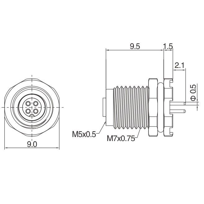 Female Panel-mount, PCB Manufacturers, Female Panel-mount, PCB Factory, Supply Female Panel-mount, PCB