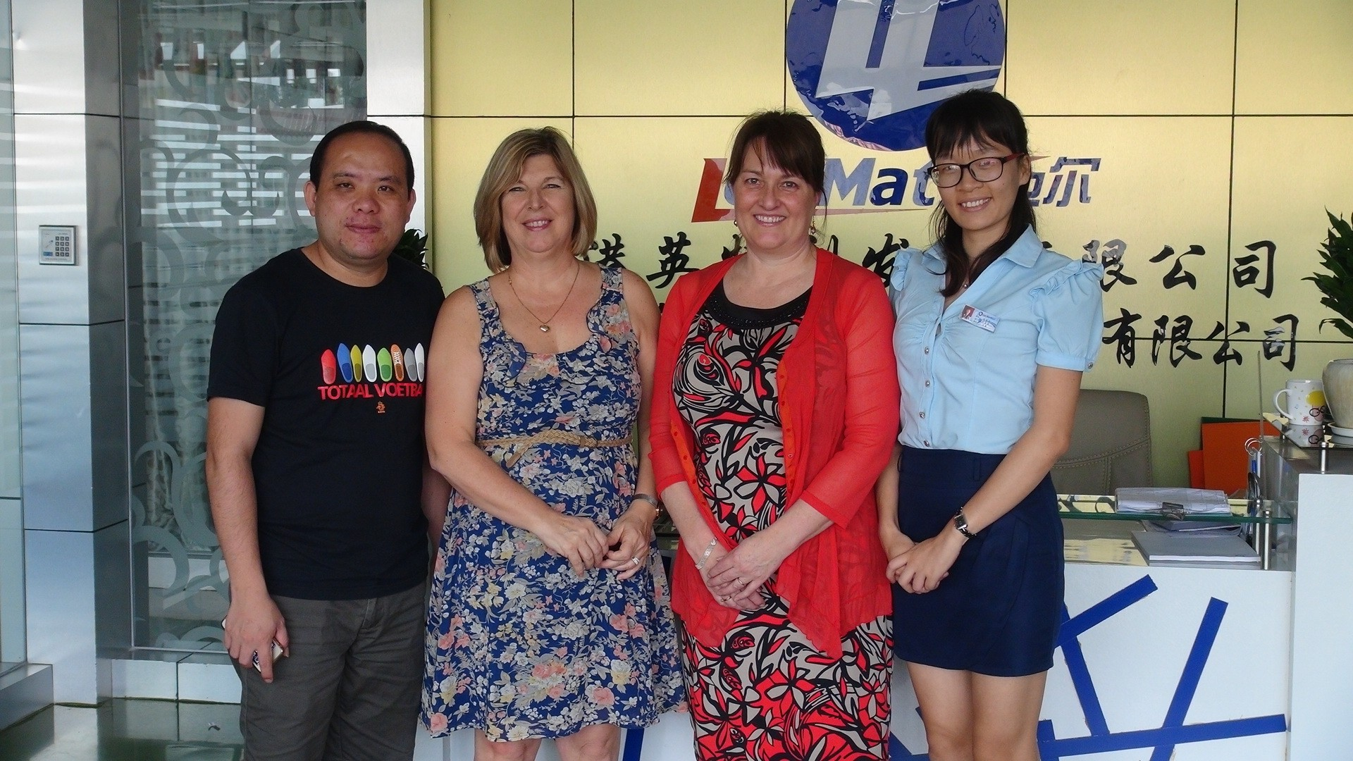 Australian customers come to visit the company