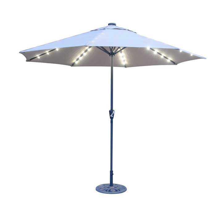 Solar Patio Umbrella With Led