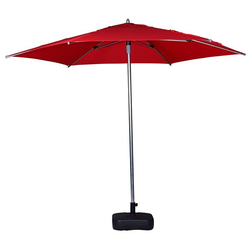 2M Square 4 ribs Market Umbrella Aluminum Frame Safety Push Open System