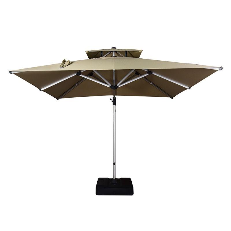 3.5*3.5M Luxury Square shape big roma umbrella rotatable outdoor garden patio cantilever parasol umbrella