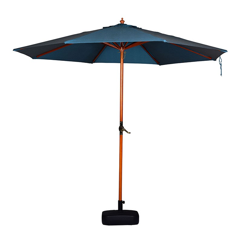 2.7M wooden market umbrella 38mm pole with pulley system