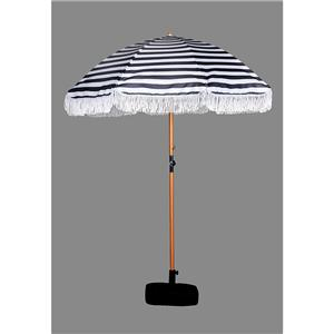 chinese supplier high quality commercial outdoor beach umbrella with tassels