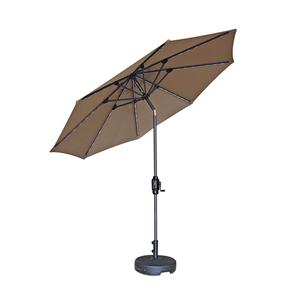 9FT Led solar patio umbrella with USB charging outdoor charger umbrella