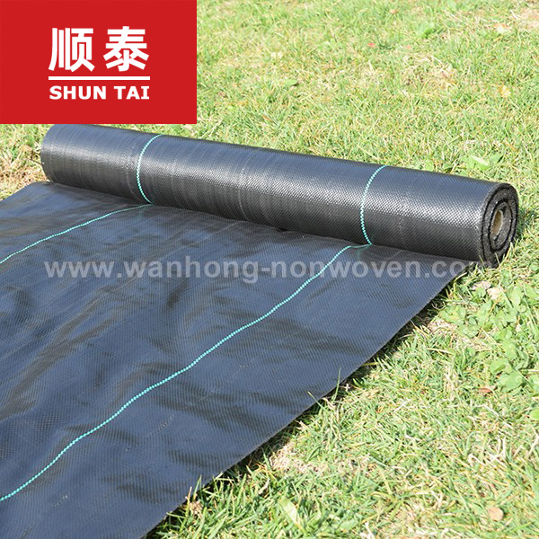 Black Colour And Plastic Material Securing Weed Control Fabric