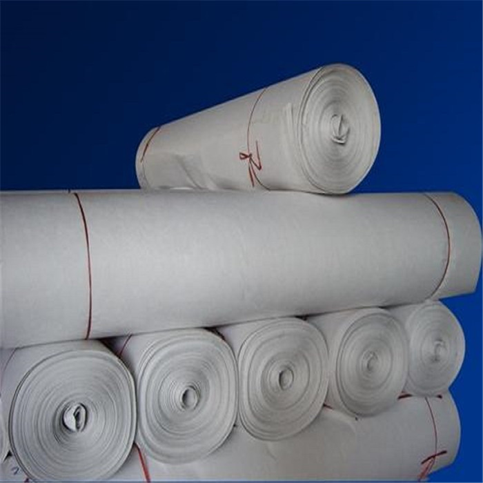Staple fiber needled nonwoven geotextile