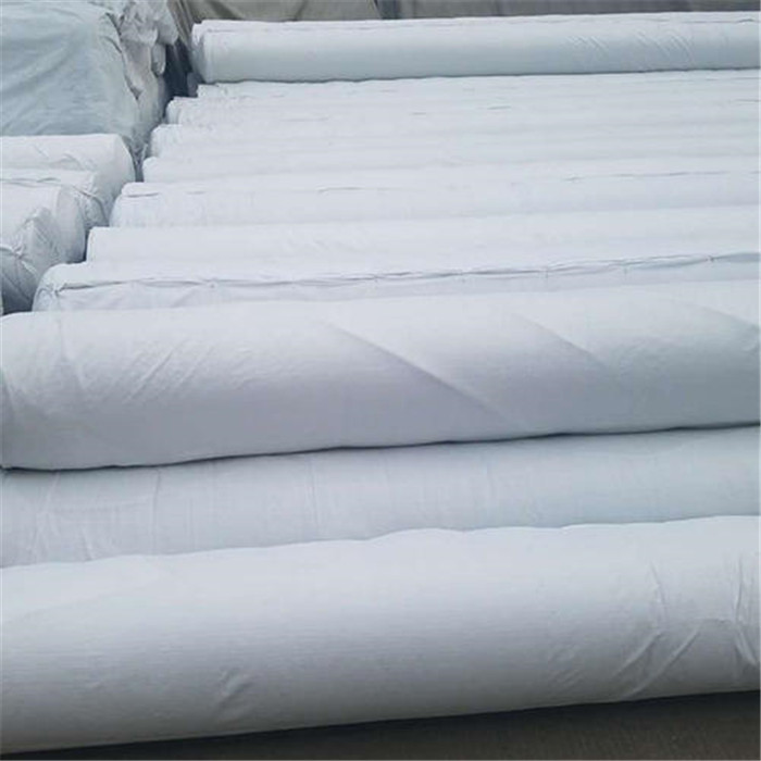 Short silk geotextile with high physical properties