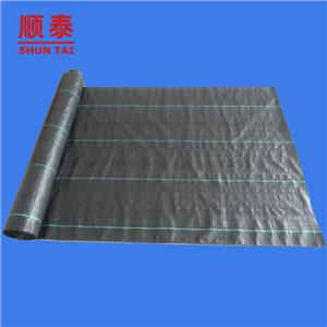 Black / Green PP Woven Fabric Agricultural Weed Control Mat For Weed Barrier