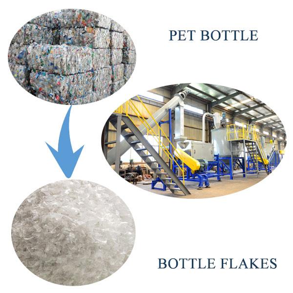 PET bottle crushing washing recycling line