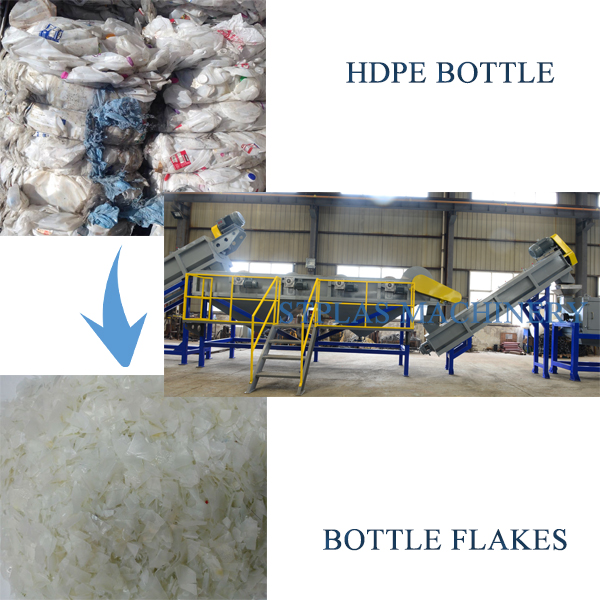 stainless steel HDPE recycling machine