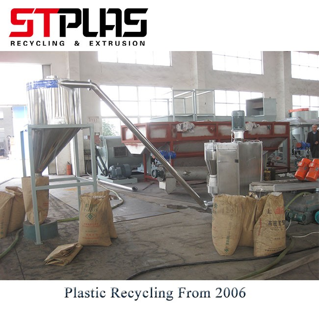 Extruder Pelletizer For Plastic Flakes Recycling Line