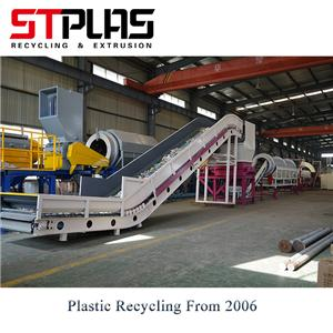 A huge 500 kg/h PET bottle recycling line