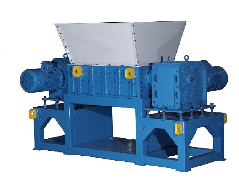 Wood tray /plastic tray shredder machine for dual shear shredder