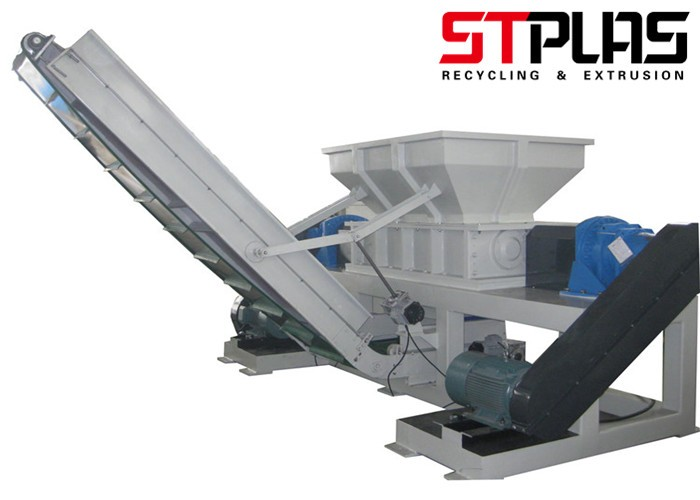 Double Shaft Shredder Plastic Machine
