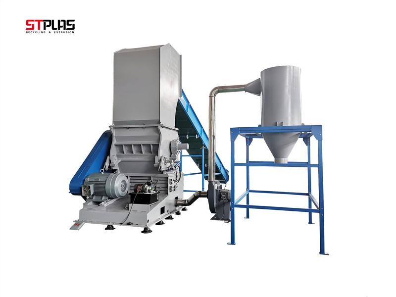 plastic material crusher machine system