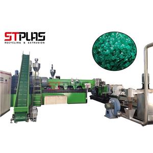SJ160 double stage pelletizing line( the films after agglomerator) with Masterbatch feeding