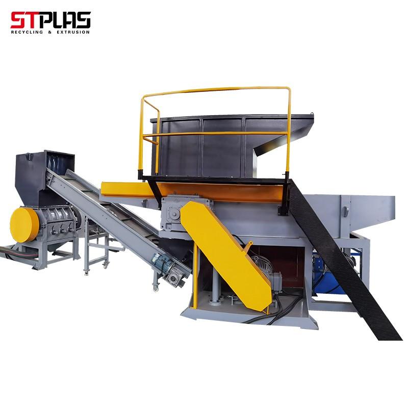 single shaft cardboard strips shredder machine