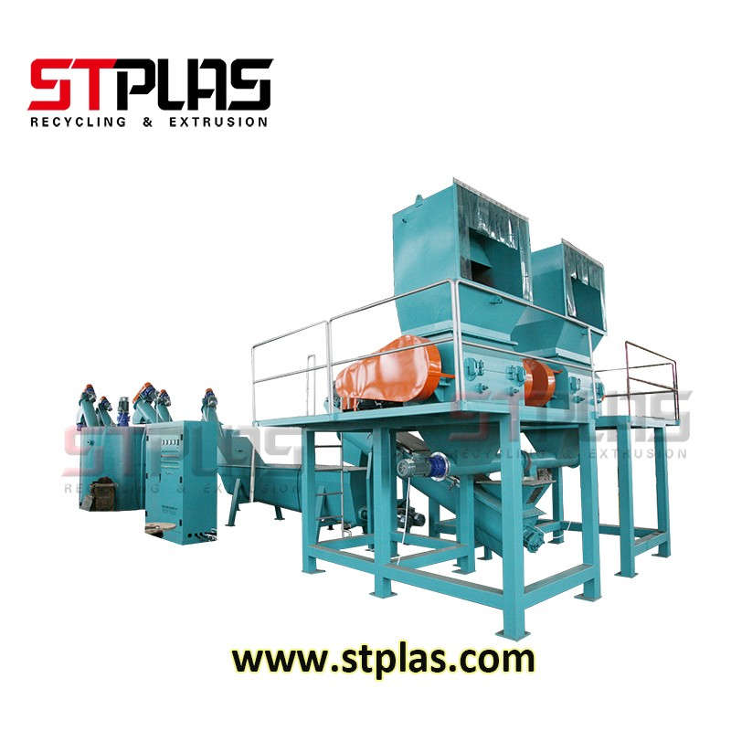 Hot Washer Machine PET Bottle Recycling Plant