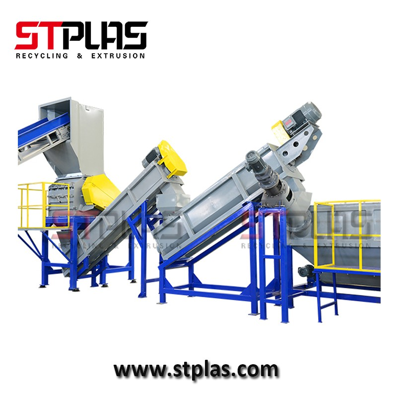 Agricultural plastic PE film washing cleaning production line