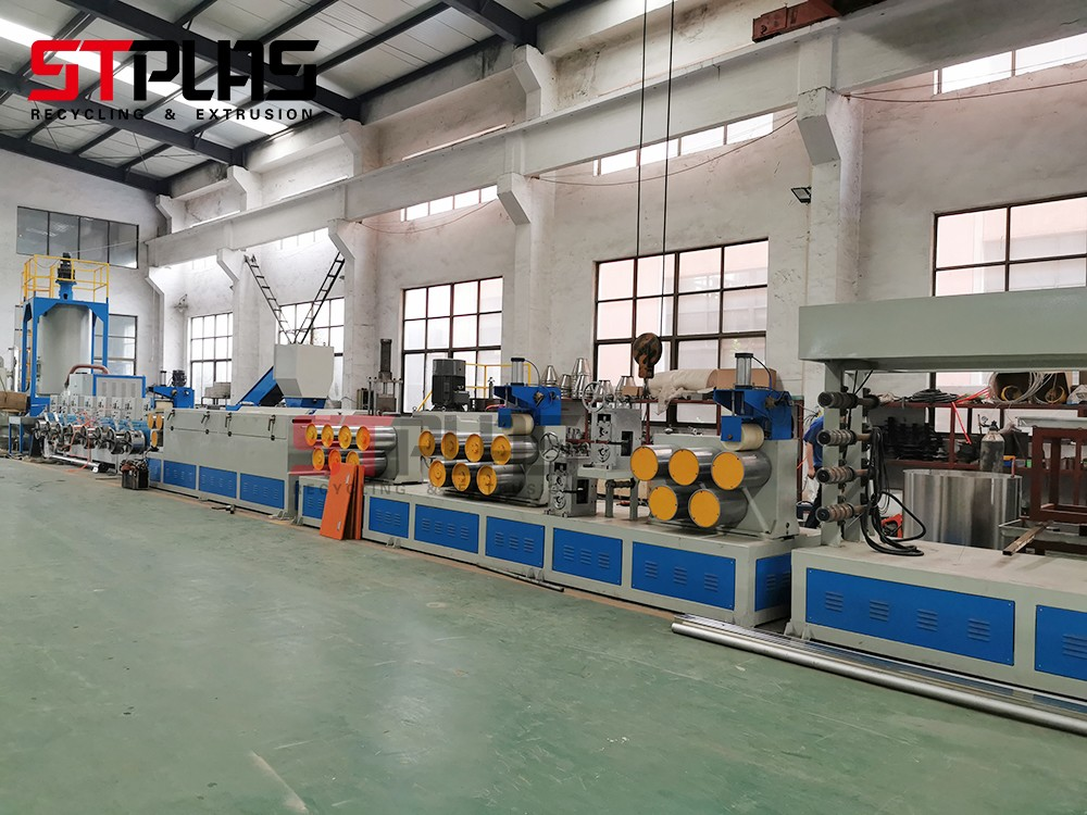 PET polyester plastic steel packing strap extrusion equipment