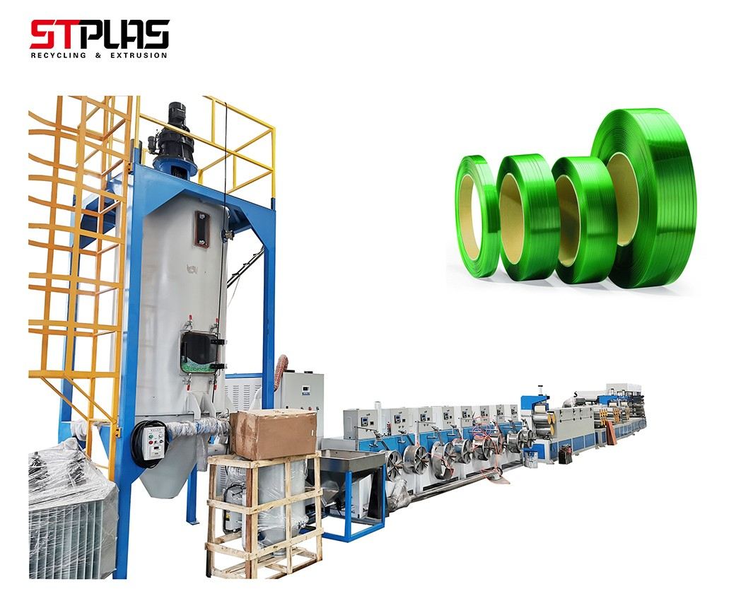 Automatic PET green polyester plastic steel packing strap production line