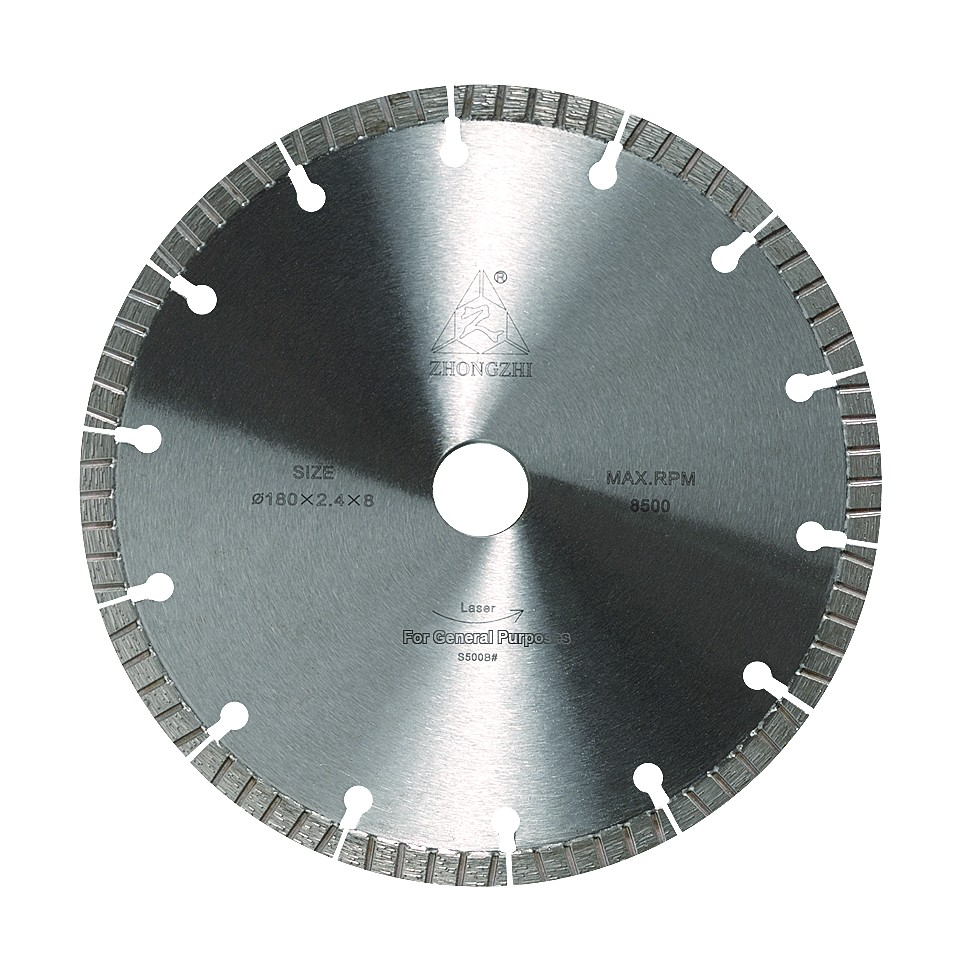 Laser Segmented Blade Straight Groove