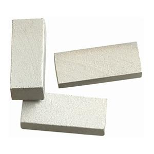 Gangsaw stone segments and blade