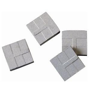 Three-step stone segments and blade