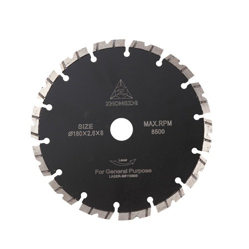 V-Shaped Laser Turbo Bevel Segmented Blade for Handheld Power