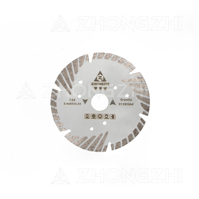 Diamantscheibe von Bevel Turbo Blade mit Schutzzähnen