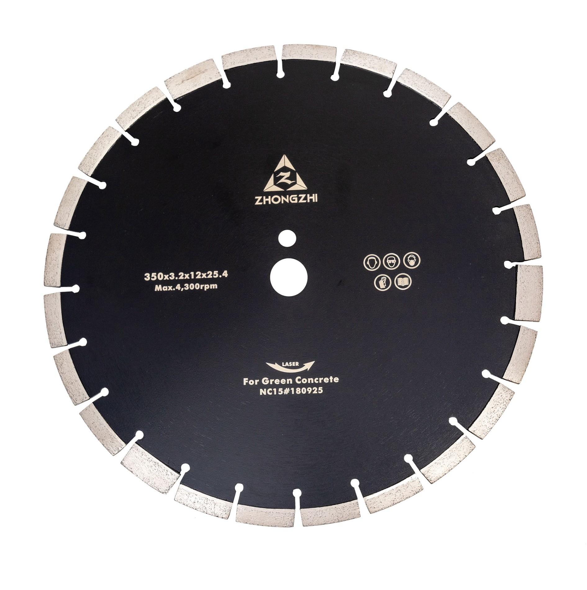 Laser Diamond GreenConcrete Blade for Construction