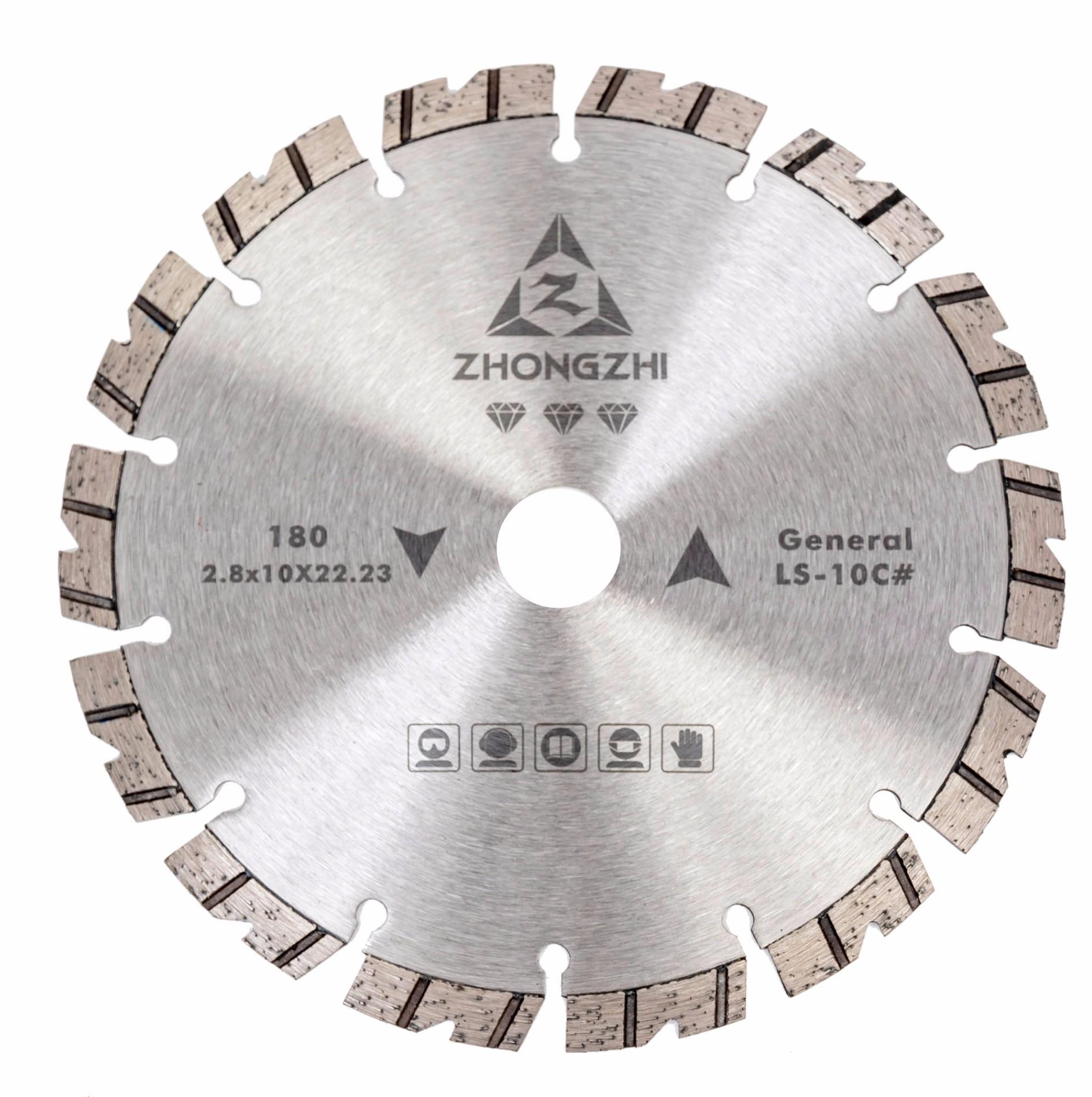 Ideal Chip Removal and Cooling V-Shaped Laser Turbo Bevel Segmented Blade for Angle Grinder