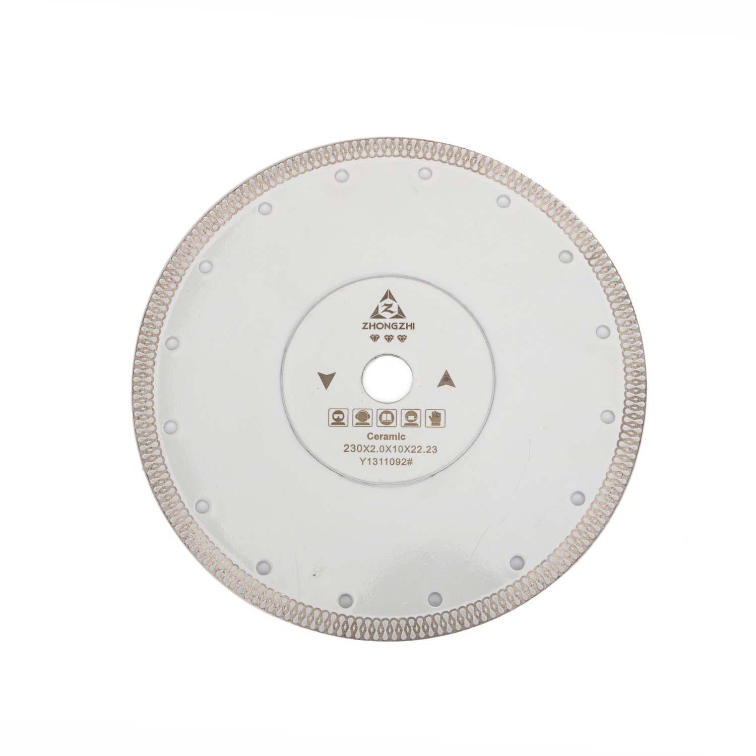 Cutting Tiles or Porcelain in Clean and Chip Free Fish Scale Type Diamond Blade