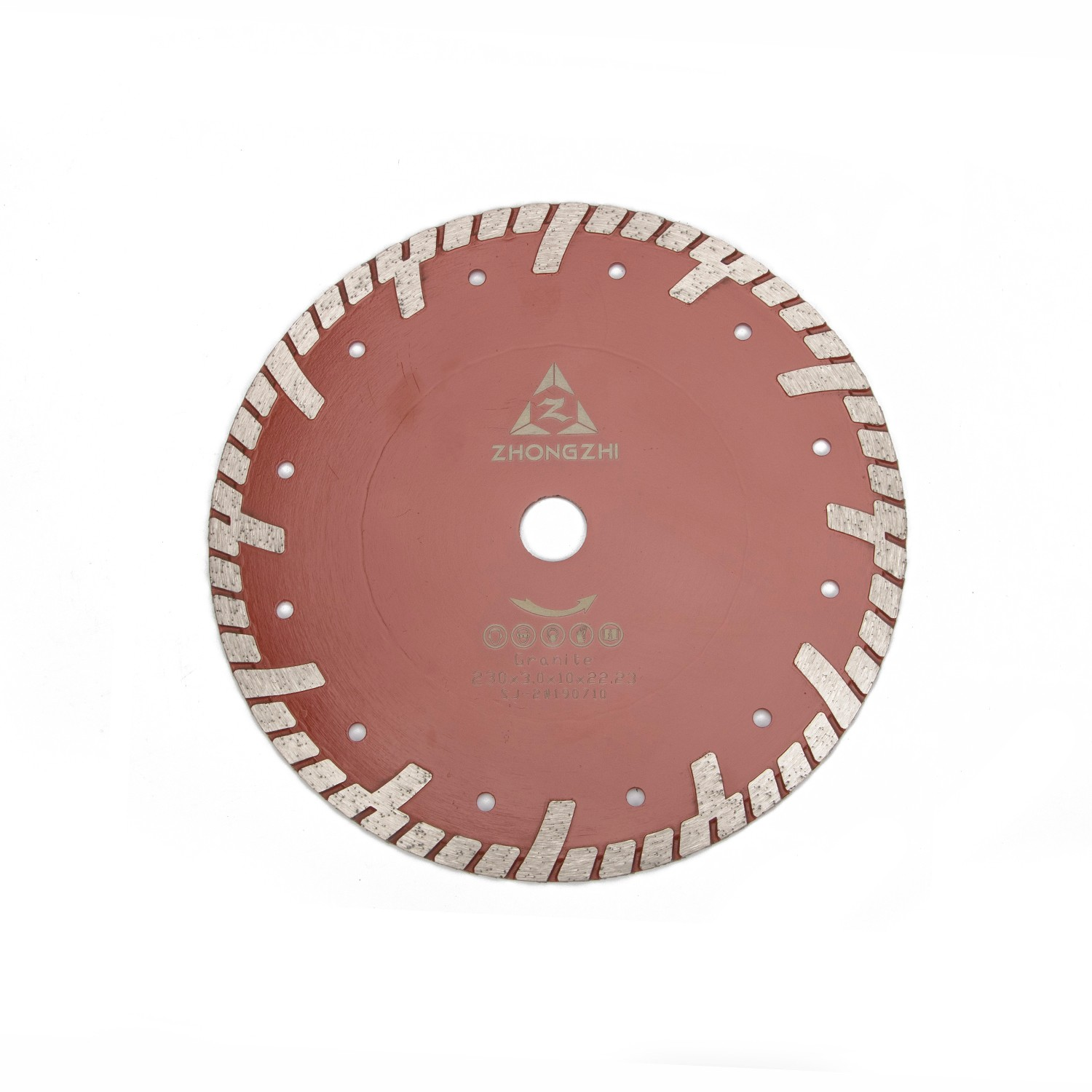 Fast Cutting and Protected Teeth Wide Turbo Rim Blade