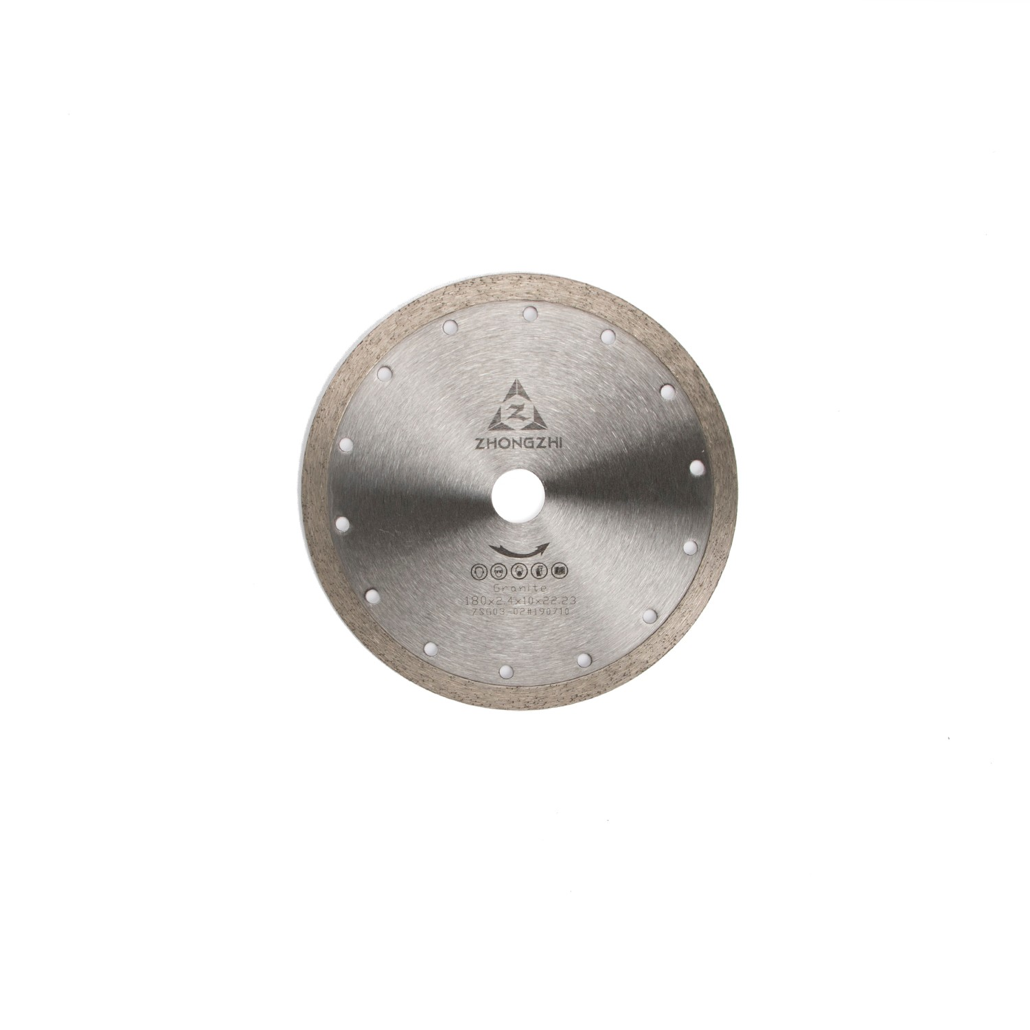 Smooth Cutting and Flat Face Sintered Continuous Rim Blades