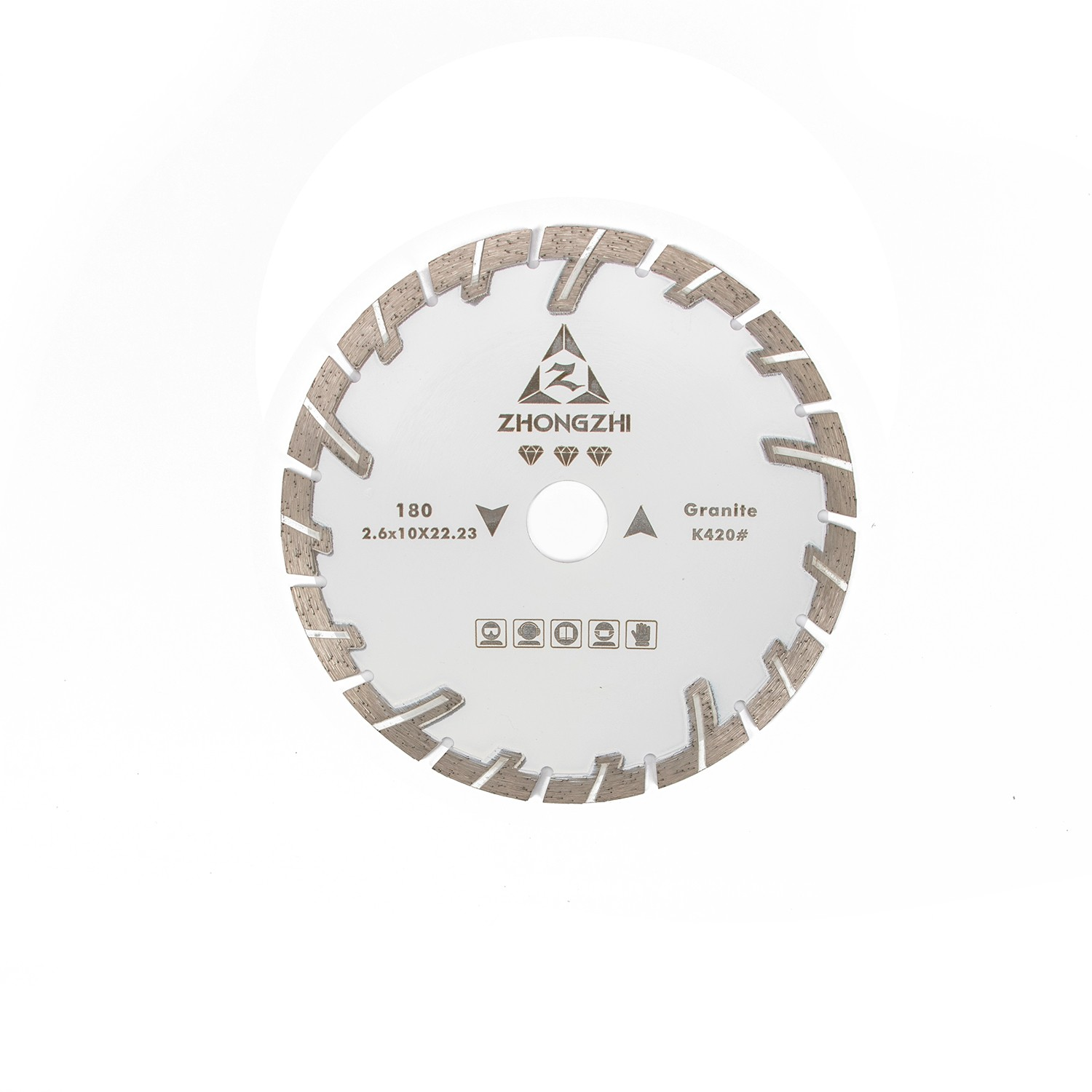 Higher Sharpness for Dry Cutting Sintered Segmented T shaped Turbo Blades with Protecting Tooth