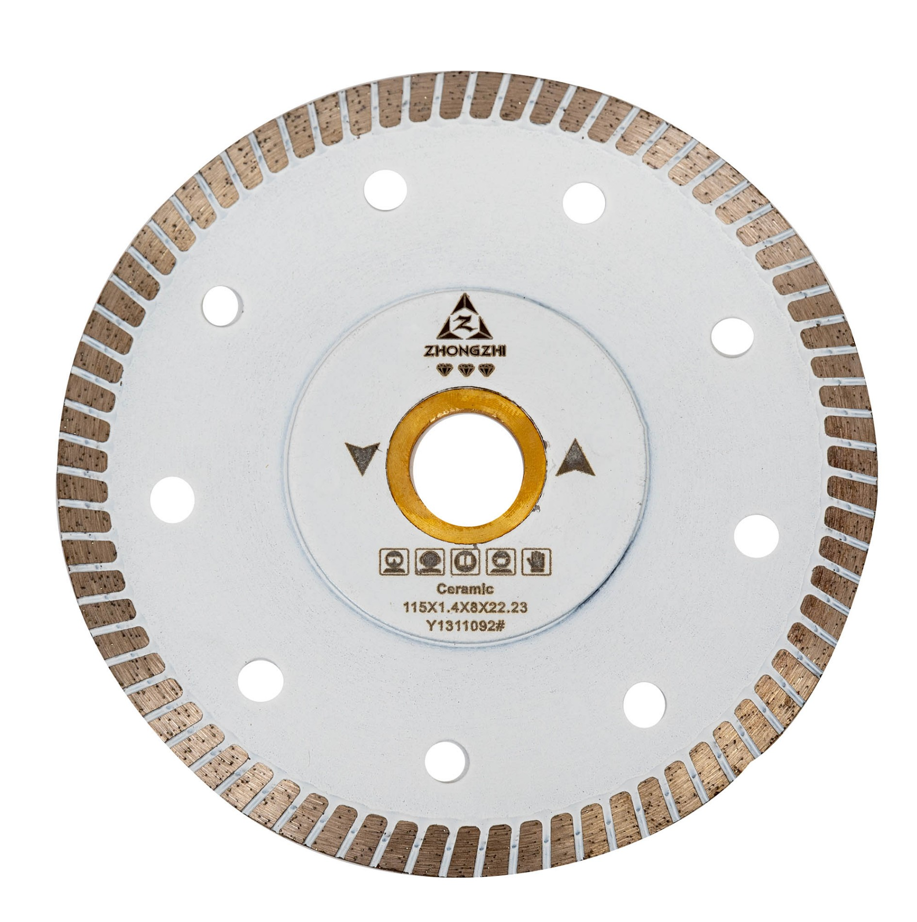 Sintered Super-thin Narrow Continuous Turbo Blades with Special Reinforced Steel Bodies for Cutting Porcelains and stones