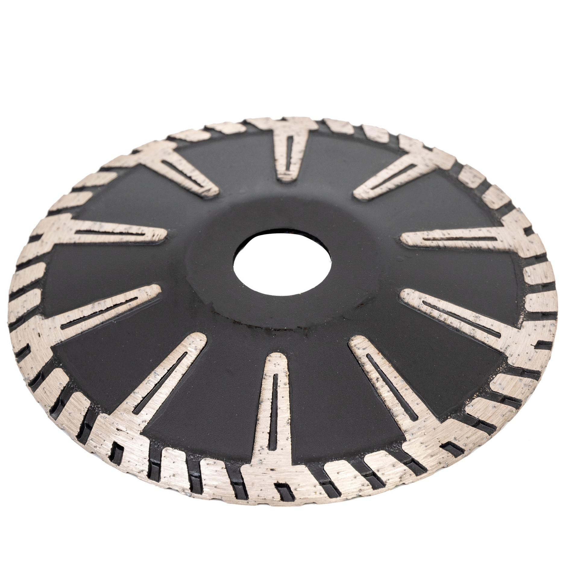 Good Cutting T shaped Continuous Turbo Rim Concave for Drilling Oval-shape Hole in Middle Stone