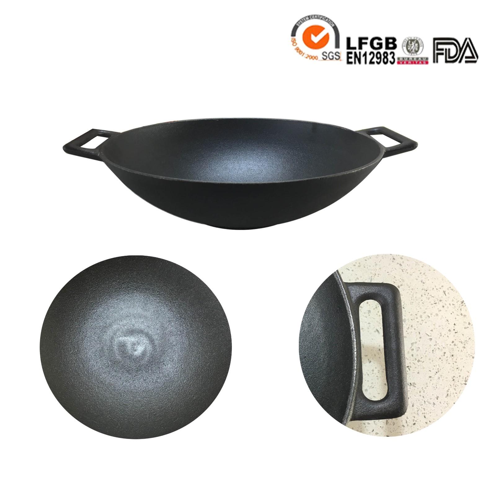 cast iron china wok